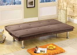 Microfiber Fabric Upholstery Living Room Awesome Small Sleeper Sofa For Spaces Brown
