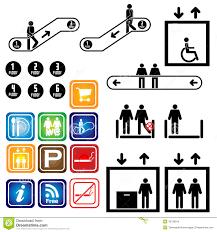 elevator floor plan symbol elevator escalator sign department vector ill stock vector