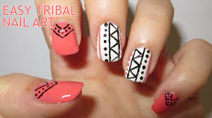 easy tribal nail art requested youtube