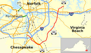 Map Of Virginia Beach Virginia State Route 190 Wikipedia