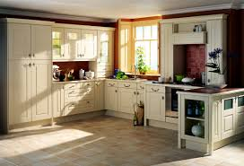 kitchen vintage l shaped kitchen design in cream color idea