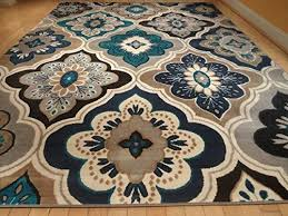 Brown And Black Rugs Incredible Teal And Black Area Rug Attractive Clubnoma Com