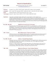 It Resume Summary Resume Samples Summary Examples For Sample Curriculum Vitae Templa