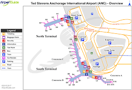 Chicago Ord Map by Anchorage Ted Stevens Anchorage International Anc Airport