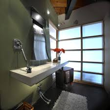austin trough bathroom sinks transitional with penny tile wall