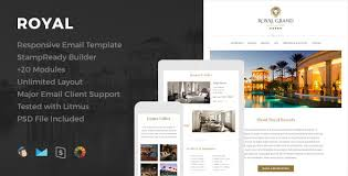royal responsive email template online editor by hyperpix