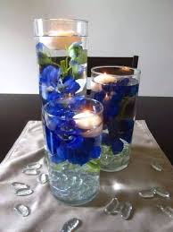 Vases With Flowers And Floating Candles Musely