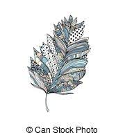 vector clip of colorful feather print seamless vector