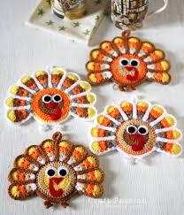 turkey coasters free crochet pattern free pattern crochet and