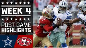 dallas cowboys thanksgiving tickets cowboys vs 49ers nfl week 4 game highlights youtube