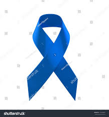 blue support ribbon blue support ribbon stock illustration 112940665