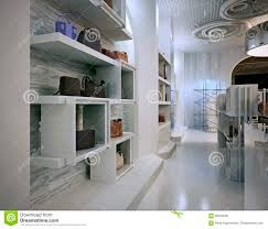 luxury store interior design art deco style with hints of contem