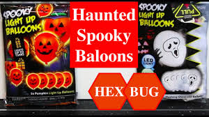 haunted balloons halloween idea with illoom led balloons