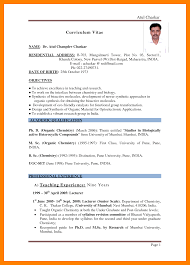 Lead Teacher Resume Indian Teacher Resume Format Free Resume Example And