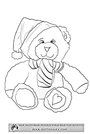 christmas bear coloring pages toby u0027s bear christmas coloring sheet