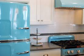 Retro Kitchen Ideas by Kitchen Style Retro Kitchen Style Mint Cabinets Mint Backsplash