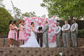 wedding backdrop rentals real wedding and david s backyard wedding dogwood party