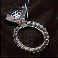 channel set diamonds solitaire ring ornament