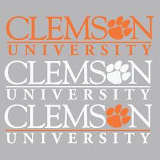 alumni decal clemson wordmark decal colors collection