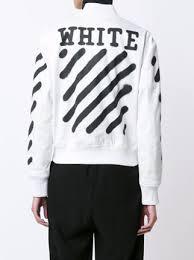 Spray Paint White - off white spray paint letterman jacket farfetch