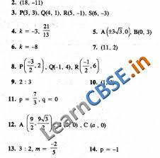 cbse class 10 maths coordinate geometry hots