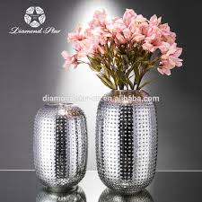 Small Vases Wholesale Simple Circle Black Modern Glass For Silver Mercury Glass Garden