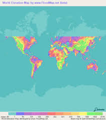 world cities on map world elevation map elevation and elevation maps of cities
