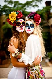 Halloween Skeleton Face Paint by 16 Bff Halloween Costumes Perfect For You And Your Friends Cabo