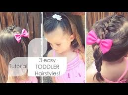 3year old straight fine haircut 3 easy toddler hairstyles tutorial youtube