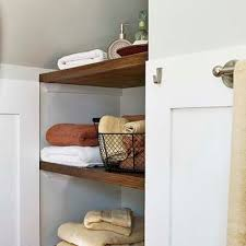 Open Bathroom Shelves From Attic To Bedroom With Help From The Web Open Shelves Oak