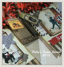 vintage halloween banner class for aug 27th polly u0027s paper studio