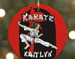 karate ornament etsy