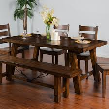 Tuscan Dining Room Table Distressed Mahogany Extension Table W Turnbuckle Accent By Sunny