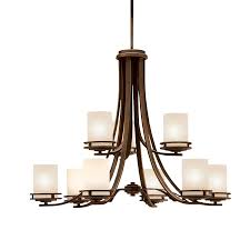 Kichler Lighting Chandelier Transitional 9 Light Chandelier In Olde Bronze Hendrik
