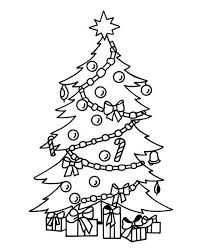 coloring pages pretty christmas tree drawing coloring pages