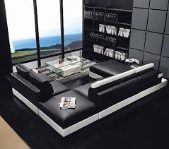 Square Sectional Sofa Sectional Sofa Black Square Leather Sectionals