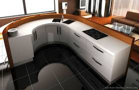 Curved Island Kitchen Designs A Contemporary White Kitchen With Curved Cabinets