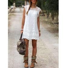 white summer bohemian slim dresses online white summer bohemian