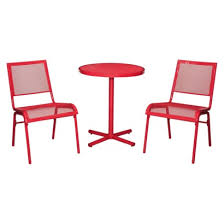 Wicker Bistro Table And Chairs Room Essentials Lasalle 3 Piece Mesh Patio Bistro Furniture Set