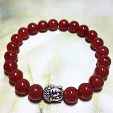 red charm bracelet images Online shop fashion charm bracelets handmade red agate stone beads jpg