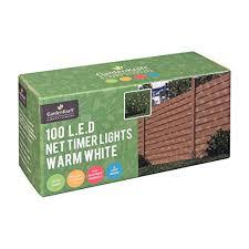 gardenkraft 15650 battery operated net timer light with 100 led
