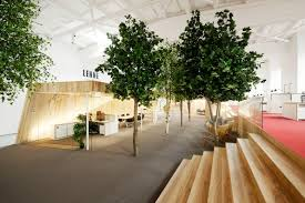 this office brought a mini forest indoors