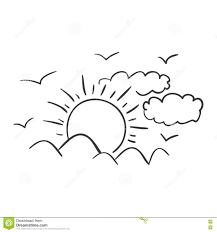 sun and cloud icon stock vector image 79386133