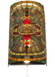 Stained Glass Wall Sconce 11 W Regal Splendor Stained Glass Wall Sconce Ships Free