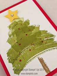 christmas tree card using the work of art stamp set by stampin u0027 up