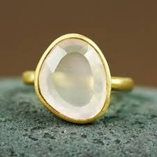 gemstone rings gold images Gold table rose quartz ring gemstone ring gold ring handmade jpg