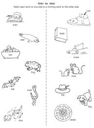 rhyming word worksheets for first grade worksheets