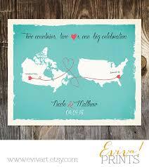 wedding gift amount canada usa canada custom wedding print destination wedding gift memento