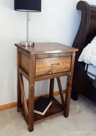 simple one drawer diy nightstand bitterroot diy