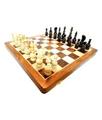 craft store india wooden carved chess set with folding chess board